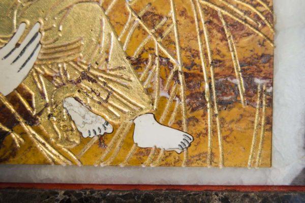 Икона Владимирской Божией Матери № 6 из мрамора, камня, от Гливи, фото 8