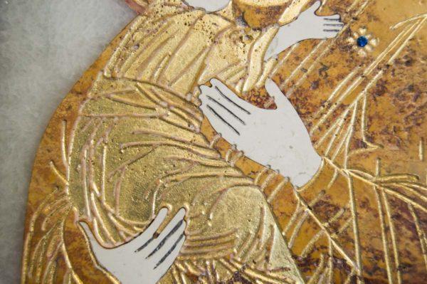 Икона Владимирской Божией Матери № 6 из мрамора, камня, от Гливи, фото 9