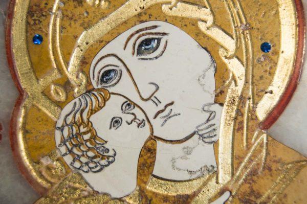 Икона Владимирской Божией Матери № 6 из мрамора, камня, от Гливи, фото 10