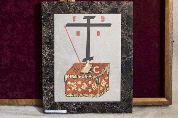 Икона Владимирской Божией Матери № 6 из мрамора, камня, от Гливи, фото 14