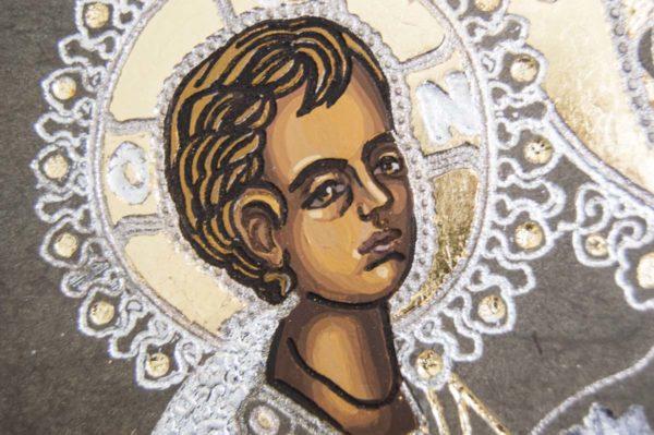 Икона Божией Матери Троеручица № 1-01 из мрамора, камня, изображение, фото 10