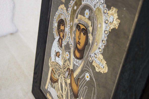 Икона Божией Матери Троеручица № 1-01 из мрамора, камня, изображение, фото 11