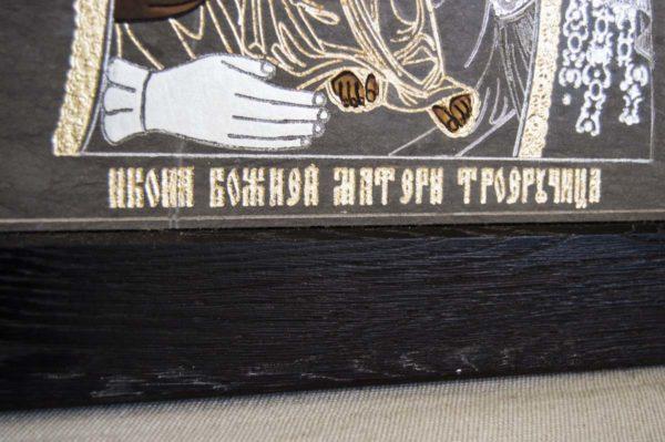 Икона Божией Матери Троеручица № 1-01 из мрамора, камня, изображение, фото 12