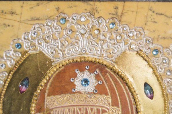 Икона Божией Матери Троеручица № 2-12-1 из мрамора, камня, изображение, фото 9