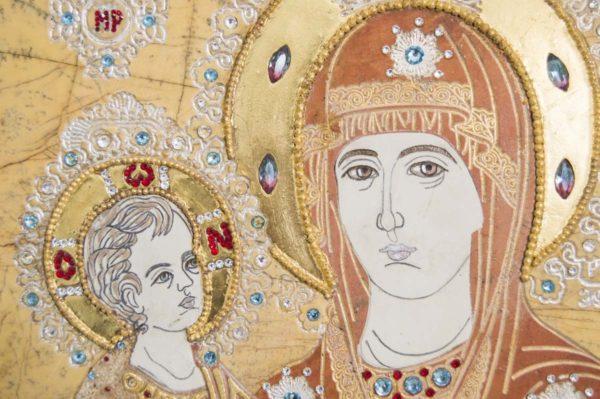 Икона Божией Матери Троеручица № 2-12-1 из мрамора, камня, изображение, фото 10