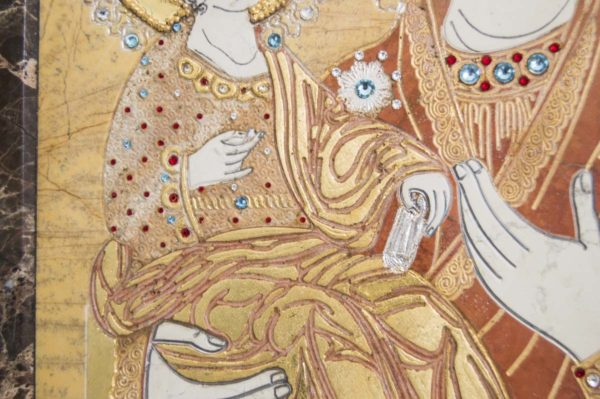 Икона Божией Матери Троеручица № 2-12-1 из мрамора, камня, изображение, фото 12
