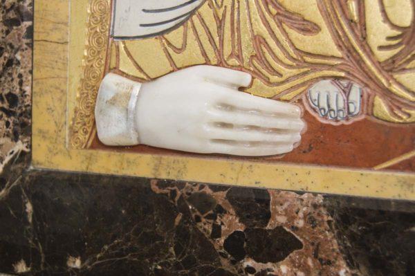 Икона Божией Матери Троеручица № 2-12-1 из мрамора, камня, изображение, фото 13