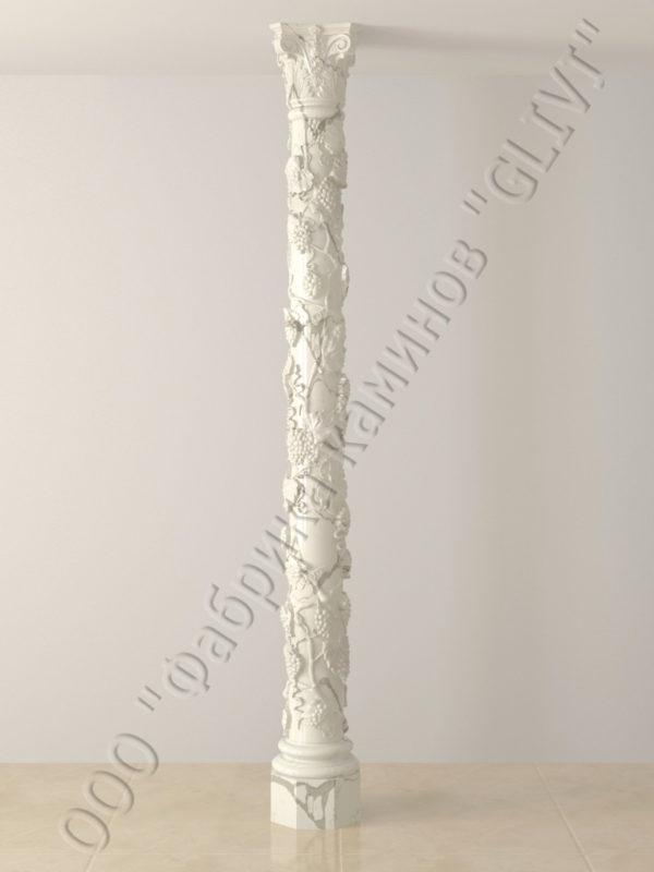 Колонна из натурального камня (мрамора) Витис, фото 2