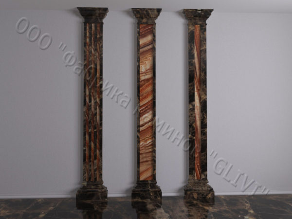 Колонна из натурального камня (оникса) Мильва, фото 2