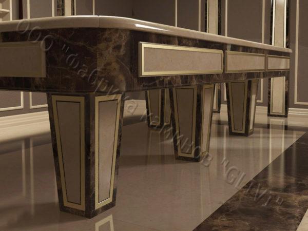 Бильярдный стол из натурального камня (мрамора) Риенс, фото 3