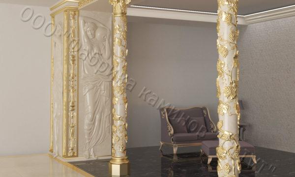 Интерьер из натурального камня (мрамора) Black gold, фото 4