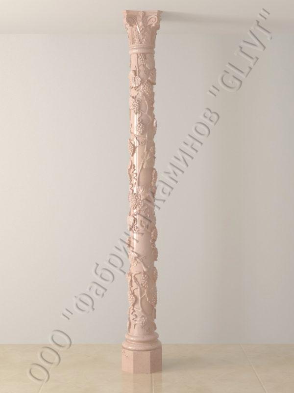 Колонна из натурального камня (мрамора) Витис, фото 3