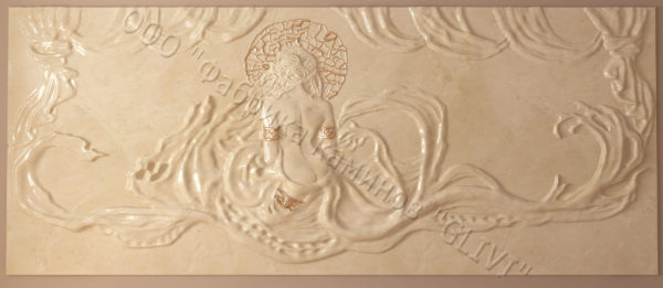 Барельеф из натурального камня (мрамора) Дама в белом мраморе, фото 3