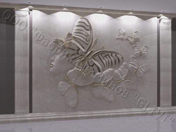 Барельеф из натурального камня (мрамора) Нефертити, фото 3
