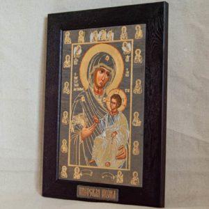 Икона Иверской Божией Матери № 1-6 из мрамора, камня, от Гливи, фото 4