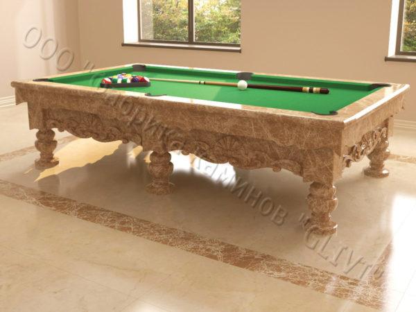 Бильярдный стол из натурального камня (мрамора) Калантэ, фото 10