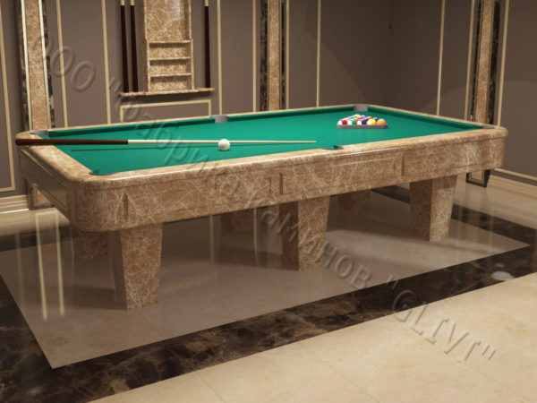 Бильярдный стол из натурального камня (мрамора) Риенс, фото 5