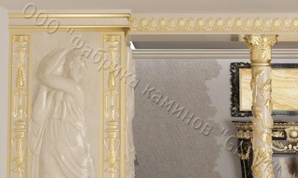 Интерьер из натурального камня (мрамора) Black gold, фото 2