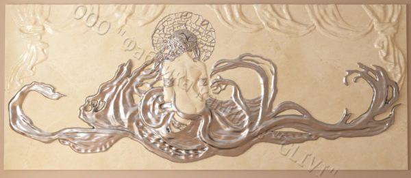 Барельеф из натурального камня (мрамора) Дама в белом мраморе, фото 4