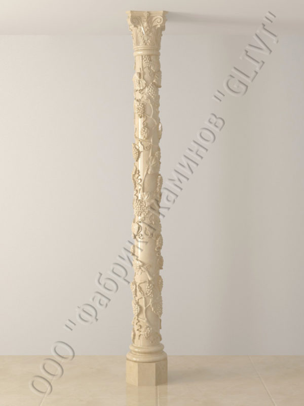 Колонна из натурального камня (мрамора) Витис, фото 4