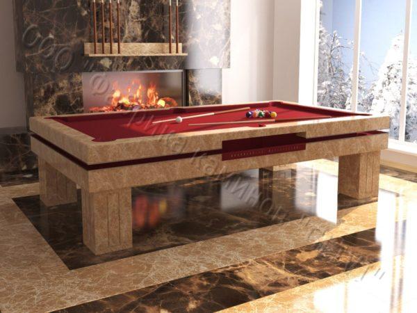 Бильярдный стол из натурального камня (мрамора) Виго, фото 4