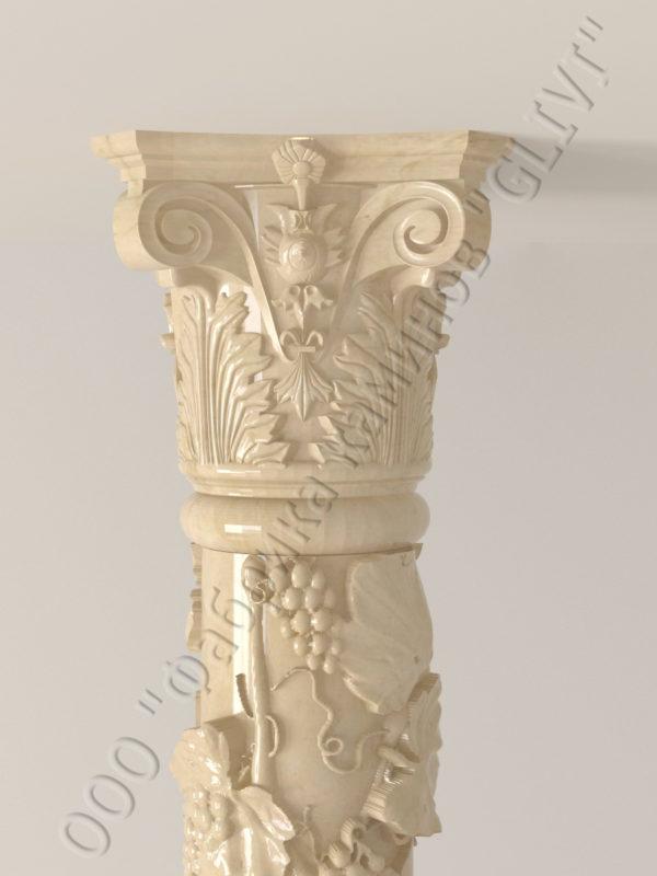 Колонна из натурального камня (мрамора) Витис, фото 5