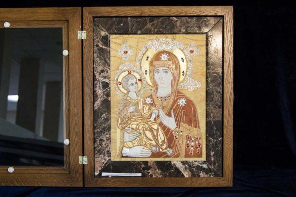 Икона Божией Матери Троеручица № 2-12-1 из мрамора, камня, изображение, фото 15
