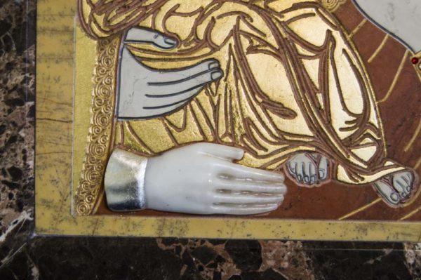 Икона Божией Матери Троеручица № 2-12-1 из мрамора, камня, изображение, фото 17
