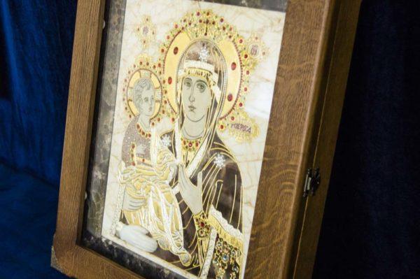 Икона Божией Матери Троеручица № 2-12-2 из мрамора, камня, изображение, фото 16