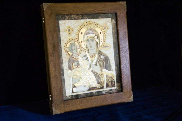 Икона Божией Матери Троеручица № 2-12-2 из мрамора, камня, изображение, фото 17