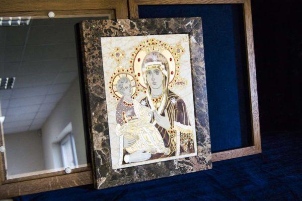 Икона Божией Матери Троеручица № 2-12-2 из мрамора, камня, изображение, фото 19