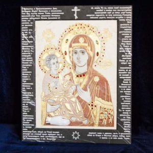 Икона Божией Матери Троеручица № 2-12-9 из мрамора, камня, изображение, фото 17