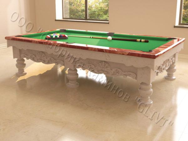 Бильярдный стол из натурального камня (мрамора) Калантэ, фото 12
