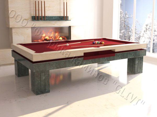 Бильярдный стол из натурального камня (мрамора) Виго, фото 6