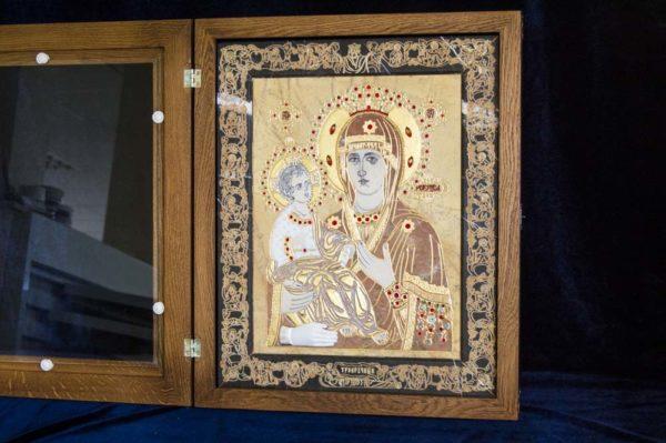 Икона Божией Матери Троеручица № 2-12-4 из мрамора, камня, изображение, фото 10