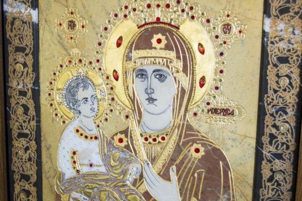 Икона Божией Матери Троеручица № 2-12-4 из мрамора, камня, изображение, фото 11