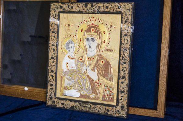 Икона Божией Матери Троеручица № 2-12-4 из мрамора, камня, изображение, фото 12