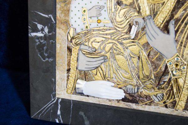 Икона Божией Матери Троеручица № 2-12-5 из мрамора, камня, изображение, фото 20