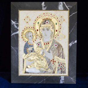 Икона Божией Матери Троеручица № 2-12-6 из мрамора, камня, изображение, фото 18