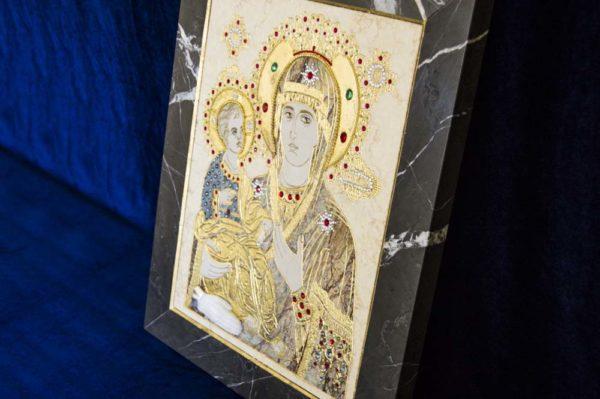 Икона Божией Матери Троеручица № 2-12-6 из мрамора, камня, изображение, фото 19