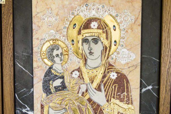 Икона Божией Матери Троеручица № 2-12-7 из мрамора, камня, изображение, фото 17