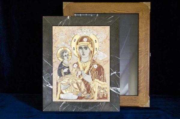 Икона Божией Матери Троеручица № 2-12-7 из мрамора, камня, изображение, фото 18