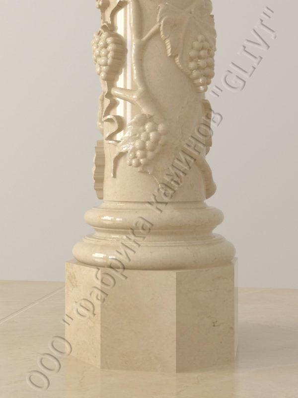 Колонна из натурального камня (мрамора) Витис, фото 7