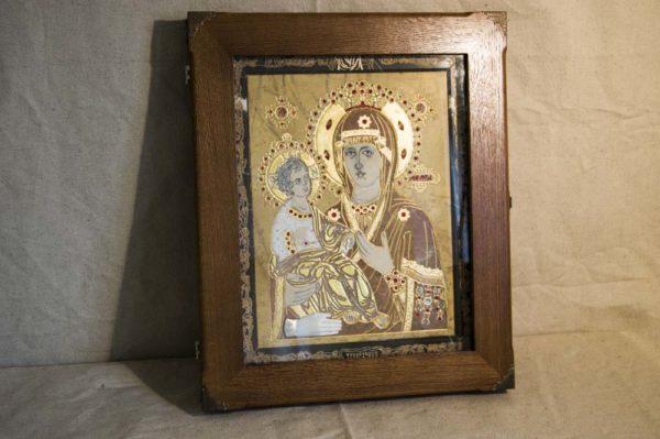 Икона Божией Матери Троеручица № 2-12-11 из мрамора, камня, изображение, фото 18