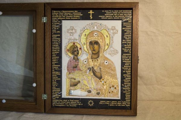 Икона Божией Матери Троеручица № 2-12-13 из мрамора, камня, изображение, фото 15