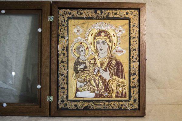 Икона Божией Матери Троеручица № 2-12-4 из мрамора, камня, изображение, фото 15