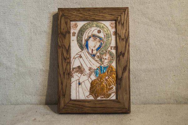 Икона Иверской Божией Матери № 6 подарочная из мрамора, камня, от Гливи, фото 1