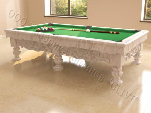 Бильярдный стол из натурального камня (мрамора) Калантэ, фото 14