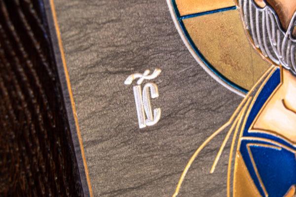 Икона Господа Вседержителя № 3-02 (Пантократор) из камня, Гливи, фото 5