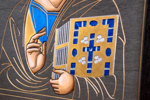 Икона Господа Вседержителя № 3-02 (Пантократор) из камня, Гливи, фото 9